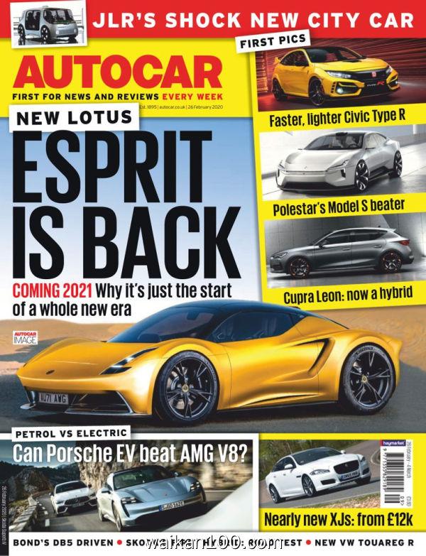 [英国版]Autocar 26 2月刊 2020年高清PDF电子杂志外刊期刊下载英文原版