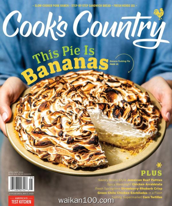 Cook's Country 4月刊 2020年高清PDF电子杂志外刊期刊下载英文原版