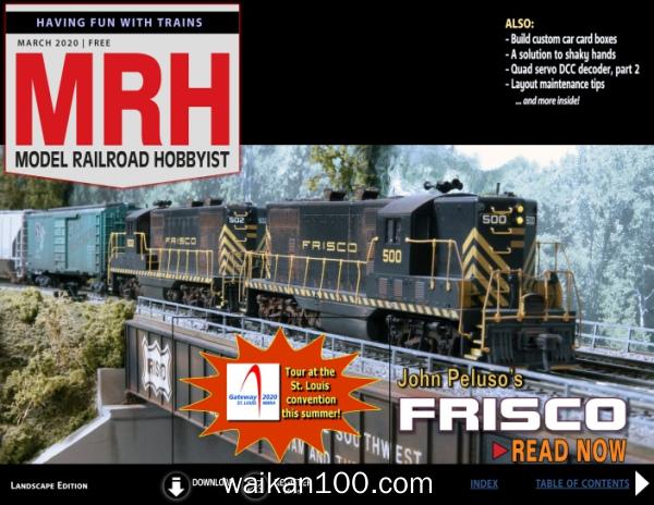 Model Railroad Hobbyist 3月刊 2020年 [39MB]
