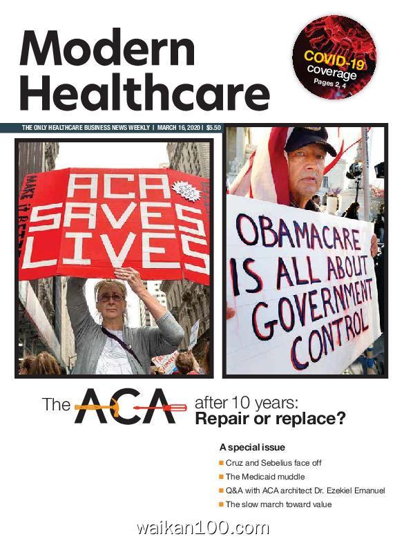 Modern Healthcare 3月刊 16 2020年 [5MB]