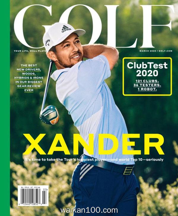 [美国版]Golf Magazine 3月刊 2020年 [124MB]