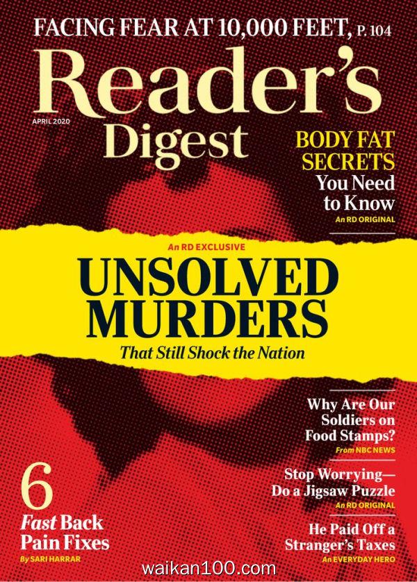 [美国版]Reader's Digest 4月刊 2020年 [39MB]