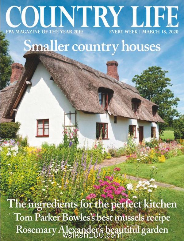 [英国版]Country Life 3月刊 18 2020年高清PDF电子杂志外刊期刊下载英文原版