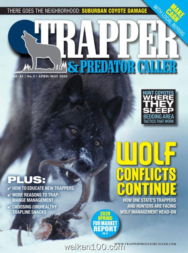 Trapper&Predator Caller 4月刊 2020年高清PDF电子杂志外刊期刊下载英文原版