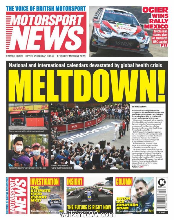 Motorsport News 3月刊 18 2020年 [33MB]