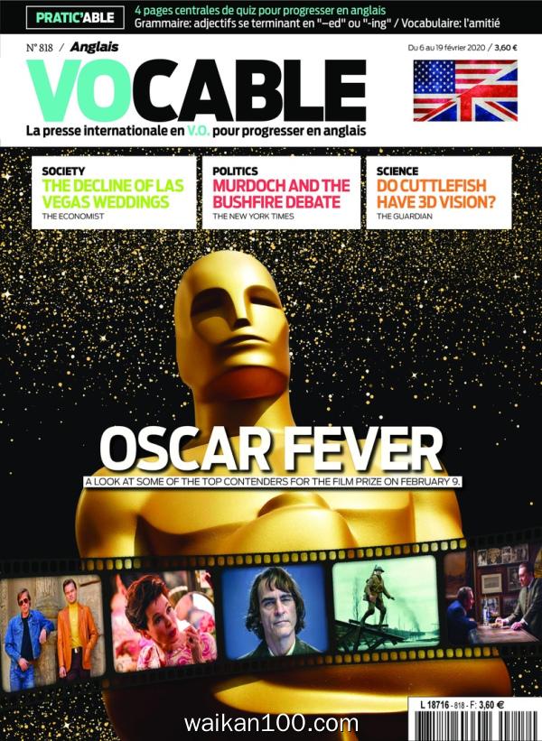 Vocable Anglais 06 f 233 vrier 2020年高清PDF电子杂志外刊期刊下载英文原版