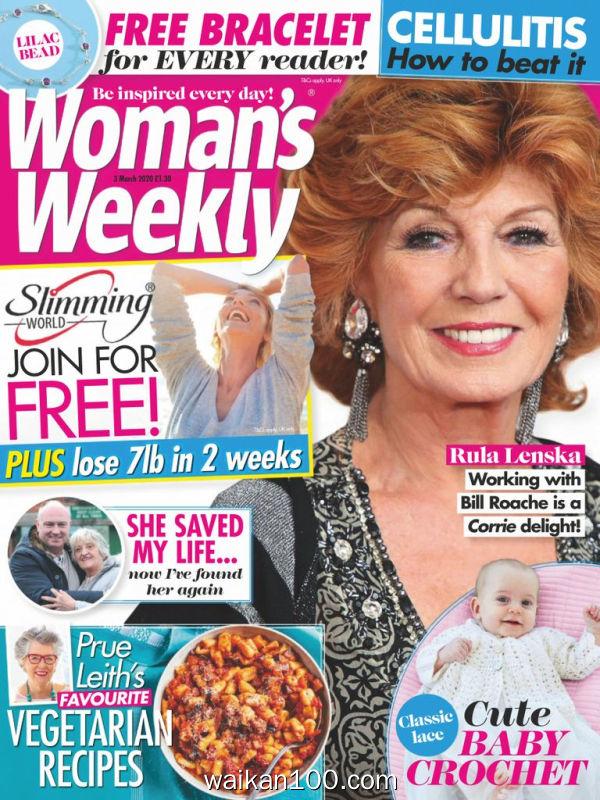 [英国版]Woman's Weekly 03 3月刊 2020年高清PDF电子杂志外刊期刊下载英文原版