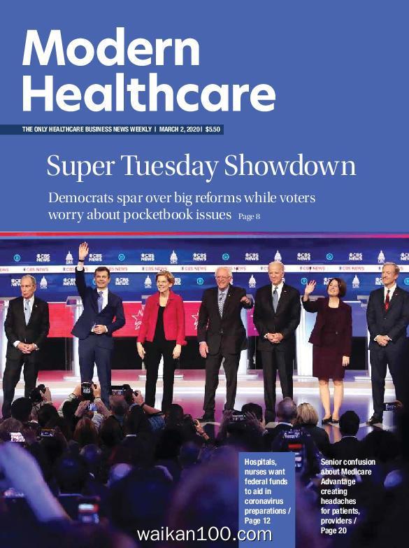 Modern Healthcare 3月刊 02 2020年高清PDF电子杂志外刊期刊下载英文原版