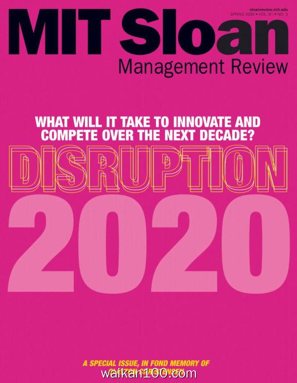 MIT Sloan Management Review 3月刊 2020年高清PDF电子杂志外刊期刊下载英文原版