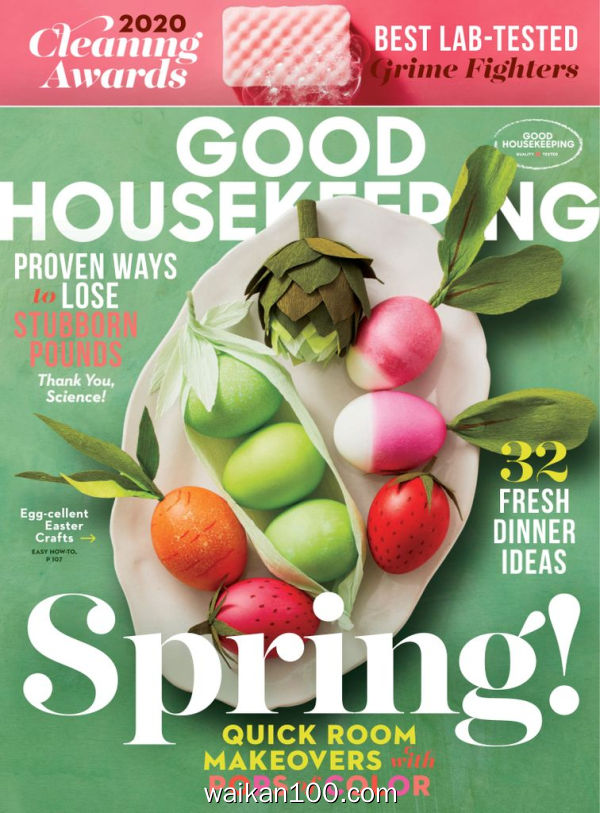 [美国版]Good Housekeeping 4月刊 2020年 [131MB]