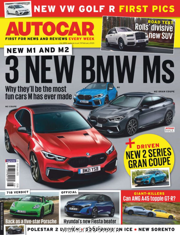 [英国版]Autocar 19 2月刊 2020年 [90MB]