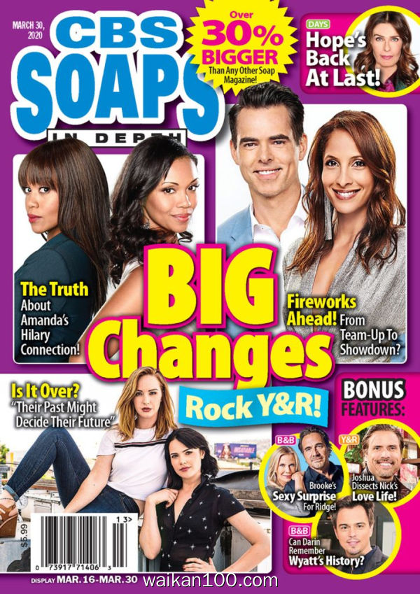 CBS Soaps In Depth 3月刊 30 2020年 [46MB]