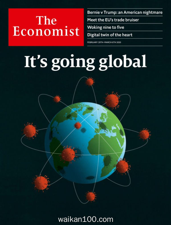 The Economist Continental Europe Edition 2月刊 29 2020年高清PDF电子杂志外刊期刊下载英文原版