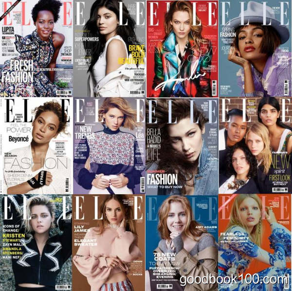Elle UK_2016年合集共12本PDF杂志电子版百度盘下载