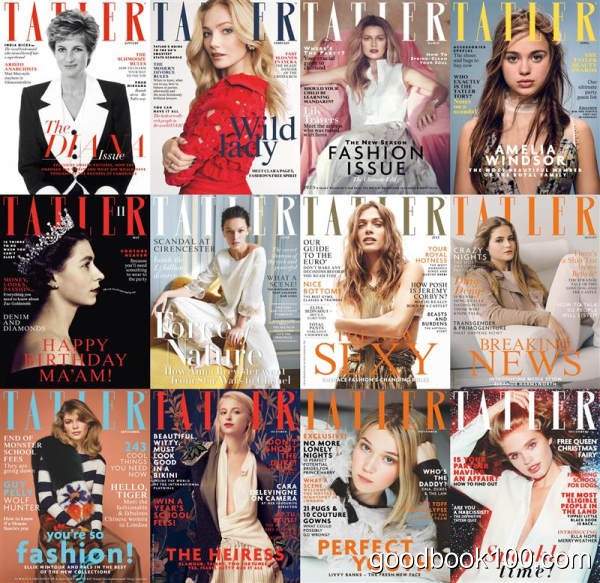时尚杂志Tatler UK英国版_2016年合集高清PDF杂志电子版百度盘下载 共12本
