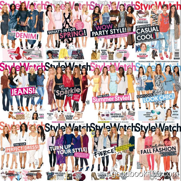 时尚杂志StyleWatch_2016年合集高清PDF杂志电子版百度盘下载 共12本